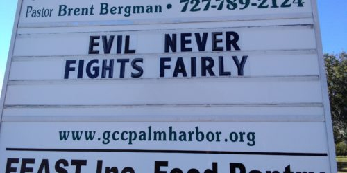 Here's Your Sign – An Unfair Fight